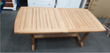 TEAK WOODEN TABLE AND 8 CHAIRS (WINDSOR SET)