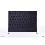 King Black Velvet Headboard - Dahlia