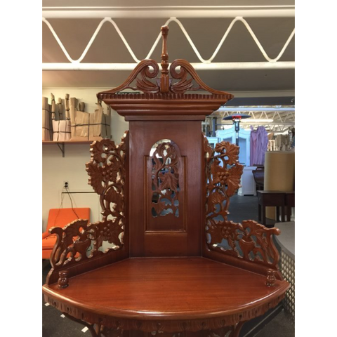SOLID MAHOGANY DISPLAY UNIT