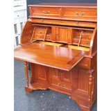 ROLL TOP WRITING DESK (Antique Reproduction - Mahogany Wood)