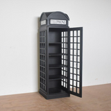 TELEPHONE BOOTH DISPLAY UNIT ( Vintage - Dark Grey)