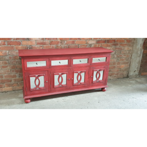 BUFFET CABINET (Mahogany Wood - Red)