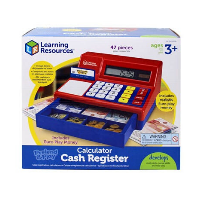 Pretend & Play® Calculator Cash Register with Euro Money