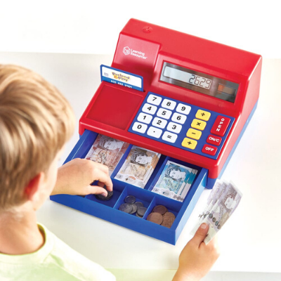Pretend & Play® Calculator Cash Register with UK Currency