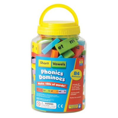 Phonics & Word Building Dominoes - Short Vowels
