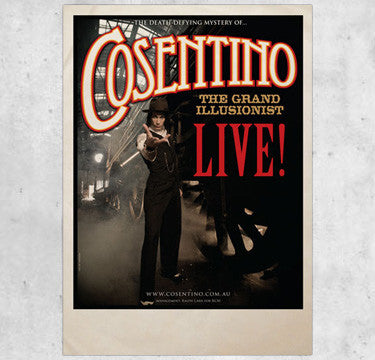 Live Poster A2 Signed by Cosentino