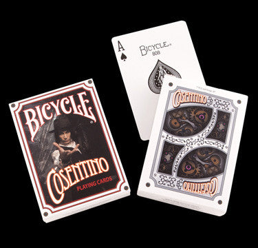 PLAYING CARDS - SIGNED Cosentino Professional Bicycle Deck - White
