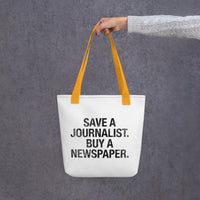 Save a Journalist Tote Bag