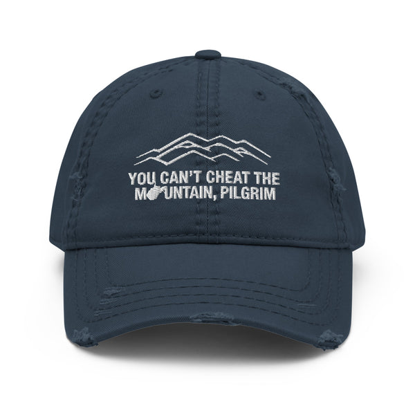 You Can't Cheat the Mountain, Pilgrim Distressed Hat