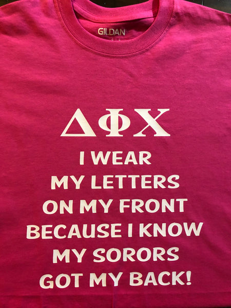 I WEAR MY LETTERS