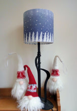 Load image into Gallery viewer, Blue Christmas Cylinder Lampshade