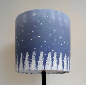 Blue Christmas Cylinder Lampshade