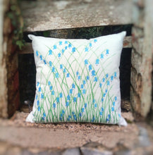 Load image into Gallery viewer, Bluebell Linen Cushion