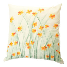 Load image into Gallery viewer, Daffodil Handpainted Cushion