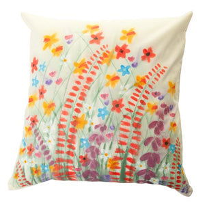 Wildflower Handpainted Cushion