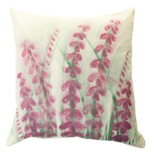 Load image into Gallery viewer, Foxglove Handpainted Cushion