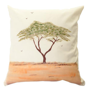 Acacia Tree Handpainted Cushion