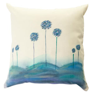 Tree Rim Handpainted Cushion