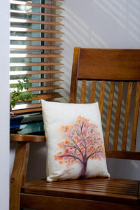 Autumn Tree Handpainted Cushion