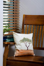 Load image into Gallery viewer, Acacia Tree Handpainted Cushion