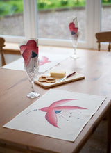 Load image into Gallery viewer, Fuchsia Linen Placemat / Napkin