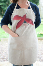 Load image into Gallery viewer, Fuchsia Linen Apron