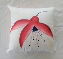 Load image into Gallery viewer, Fuchsia Linen Cushion