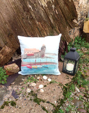 Load image into Gallery viewer, Collioure Linen Cushion