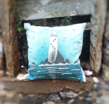 Load image into Gallery viewer, Fastnet Lighthouse Linen Cushion