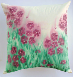Rhododendron Handpainted Cushion