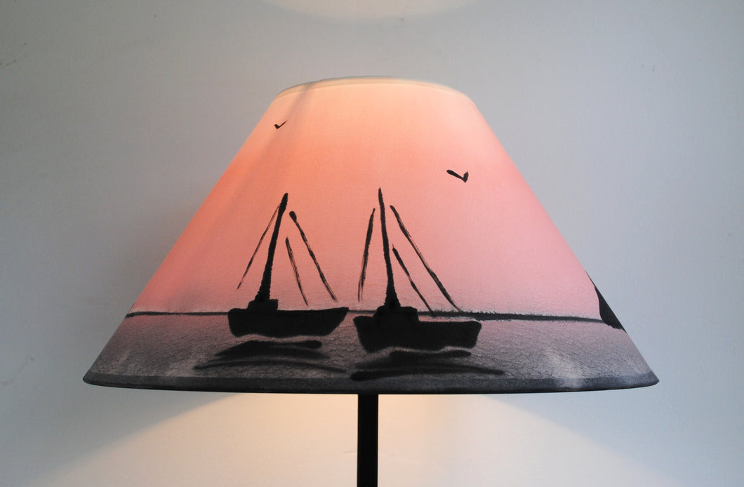 Sunset Boats Lampshade