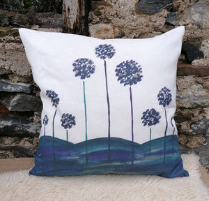 Tree Rim Linen Cushion