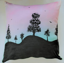 Load image into Gallery viewer, Tree Silhouette Handpainted Cushion