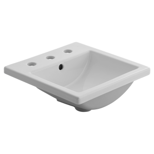"American Standard Studio Carre 16-3/8"" Drop-in Basin, White (#K4067)"