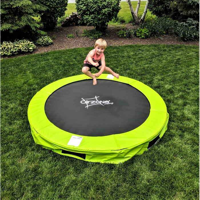 Green 12' Round Backyard Trampoline #HA70