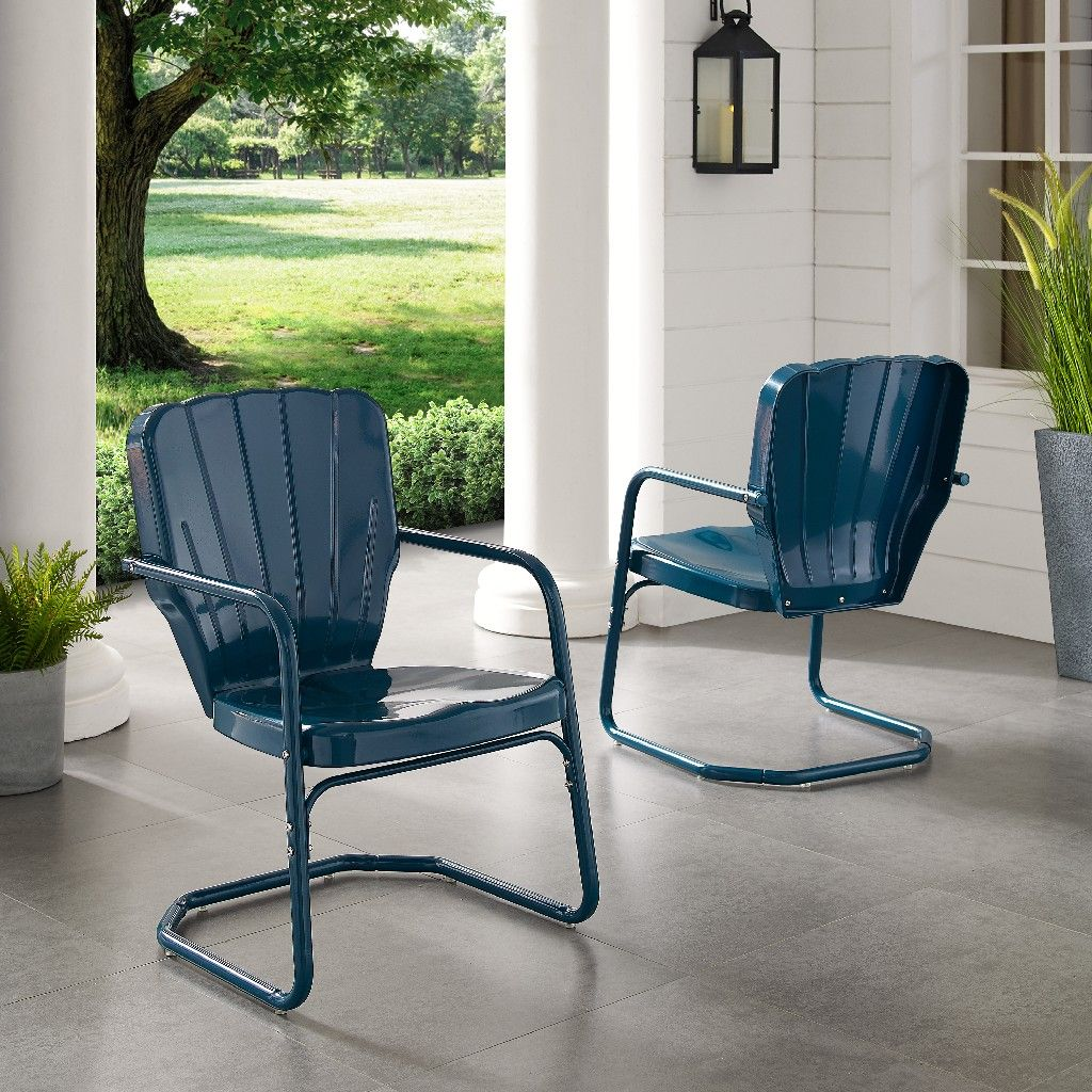Ridgeland Metal Chair Set Of 2 color (NAVY) Dr206