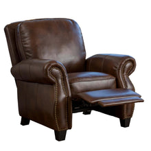 Load image into Gallery viewer, Neville 2-Tone Brown PU Leather Recliner #CR2100