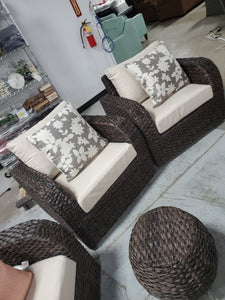 Cottleville 6 Piece Rattan Sofa Seating Group with Cushions