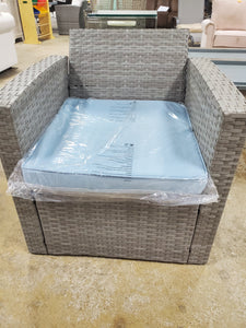 Rawtenstall Rattan Chair with Seat Cushion Only in Gray