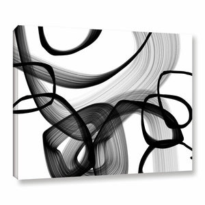'Abstract Poetry' in Black and White Wrapped Canvas #HA708