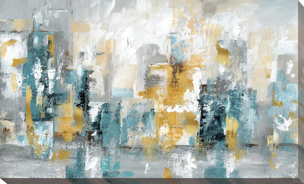 City Views II Wrapped Canvas Painting (100A) 24