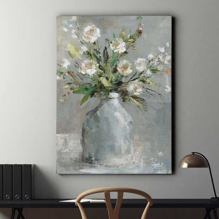 'Country Bouquet I' Wrapped Canvas Print on Canvas (#25A)