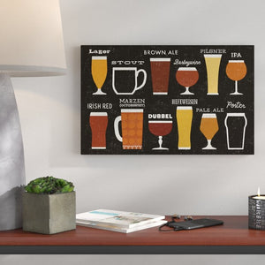 'Craft Beer List' Graphic Art Print on Wrapped Canvas (#400)