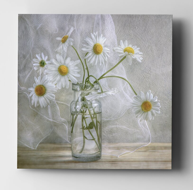 'Daisies' Oil Painting Print - 16
