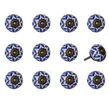 Load image into Gallery viewer, Hand painted SET OF 12 ceramic metal round knob multipack #9029