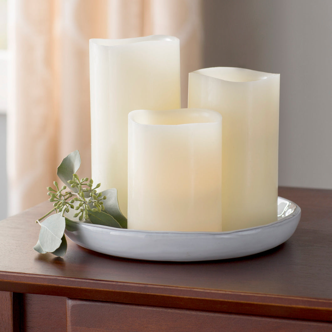 3 Piece Unscented Flameless Candle Set (#899)