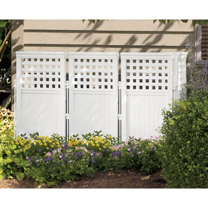 White 3.5 ft. H x 2 ft. W Outdoor Privacy Screen  2281