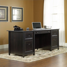 Load image into Gallery viewer, Sauder Edge Water Engineered Wood Executive Desk in Estate Black TTR525