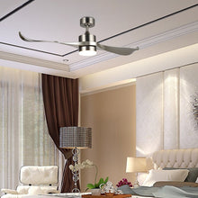 "Load image into Gallery viewer, Brushed Nickel 52"" Minnetrista 2 Blade LED Ceiling Fan with Remote, Light Kit Included 7386"