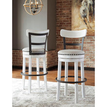 Load image into Gallery viewer, SET OF 2 Valebeck Linen Tall Upholstered Swivel Bar Stool #CR2068 (2 boxes)